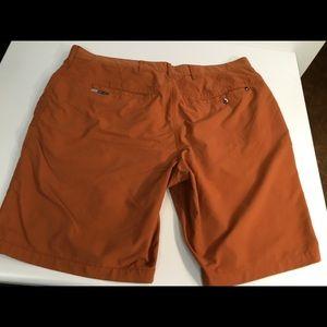 Orange Hurley/Nike Dri Fit size 36 walk shorts